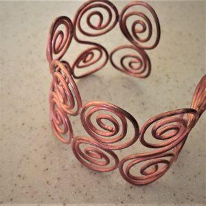 Soldered Copper Spiral Cuff